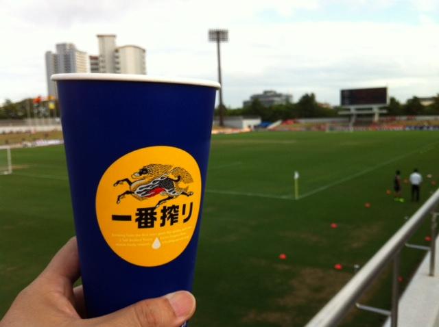 今日は港サッカー場で天皇杯 名古屋vs.長野
